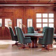 Интерьер премиум класса зоны переговоров в классическом стиле