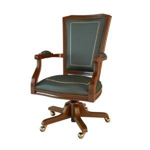 Кресло вращающееся 01002 Art&Moble с подлокотниками, кожа