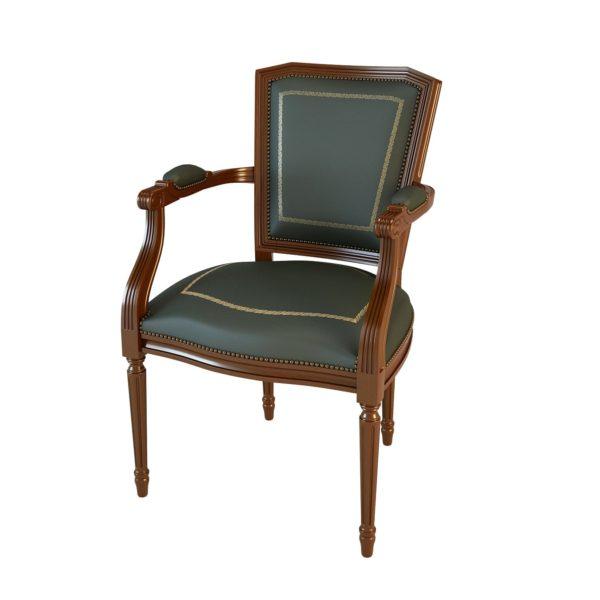 Кресло неподвижное с 4 опорами 01003 Art&Moble, натуральная кожа