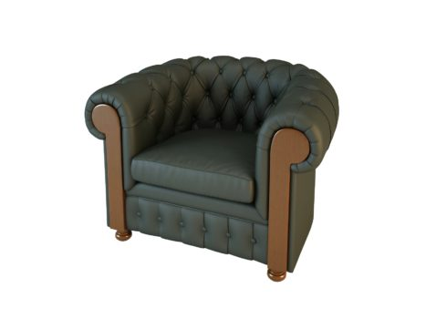 Кресло Честер 01009BM Art&Moble подлокотник дерево