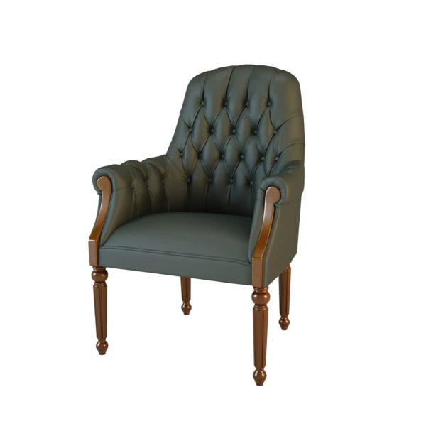 Кресло конфиденте Комфорт 01013FBM Art&Moble с подлокотниками дерево