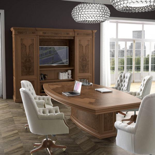 Стол для переговоров Art&Moble c креслами Комфорт