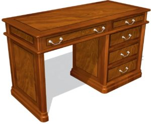 Art&Moble 01123 Стол секретаря с 5 ящиками, столешница шпон