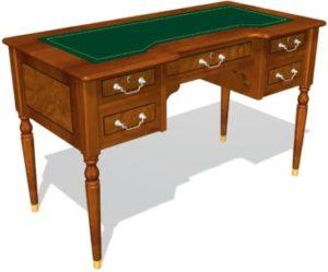 Art&Moble 01124 Стол секретаря на 4 опорах, кожа